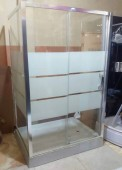 90cm x 120cm 3- Sides Glass Shower Cubicle