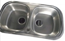 Double Bow Kitchen Sink (850x485mm)
