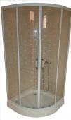 Long Transparent Shower Room
