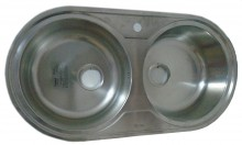 Round Double Bow Kitchn Sink (700x500mm)