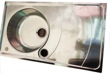 Single Bow-Single Tray Kitchen Sink (850x500mm)