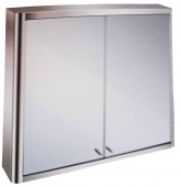 2 compartments Bathroom cabinet with mirror- 800 x700 x130mm