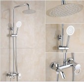 3-Way Stainless Standing Shower
