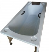 Blue Panel Bathtub with Stand