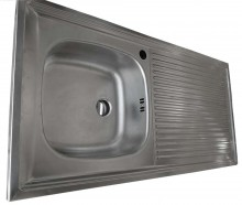 German Strength Single Bow-Single Tray Kitchen Sink (880x500mm)