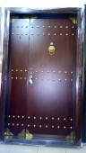 4ft Gold Armored Button Turkey Door