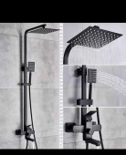 Aberlite Black Square Shower Set
