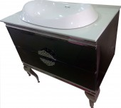 Executive Stainless Steel Bathroom Cabinet/Vanity with Wall Mirror