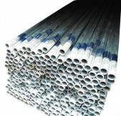 Galvanised Pipes - Light thickness. Click Here To Select A Size