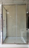 1000 x 1200mm Full Plain Glass Shower Cubicle