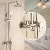 3-Way Brass Bathroom Standing Shower