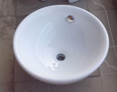 Bathroom Cabinet Ceramic Counter Top Wash Basin