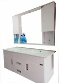 Double Sink Seater Bathroom Vanity (For Couples)