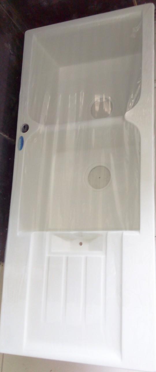 Acrylic Kitchen Sink White Frakem
