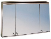 3 Compartments Bathroom cabinet with mirror - 800 x 600 x 130mm